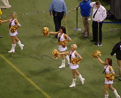 Navy Outfits (Croixboy) Tags: white minnesota football boots dome lions cheer cheerleader vikings mn pompom hhhmetrodome
