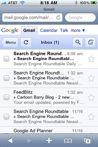 New Gmail & Google Calendar on iPhone