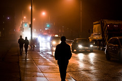 Pawn (Lyndsay Jobe) Tags: toronto rain night dark alone shadows streetlights walk headlights bloorst chineseman christiepitts gettyimagescanada