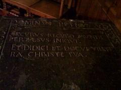 Peter Udny's Grave Slab, Top