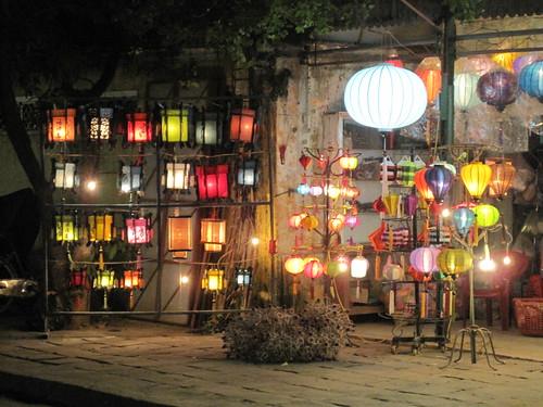 Hoi An, Vietnam - silk lantern shop