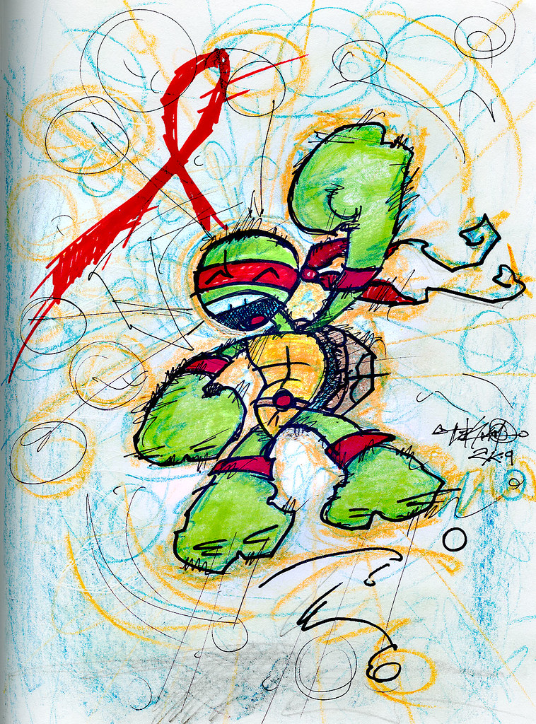 """THE NERVE"" - Project :: TMNT's Raphael, 'NERVE' style"
