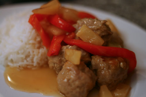 Hawaiian Turkey Meatballs Recipe