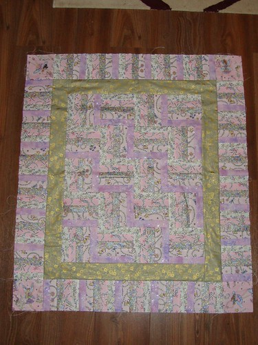 baby girl quilt top pieced