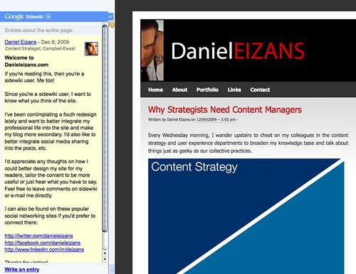 Danieleizans.com Sidewiki Entry
