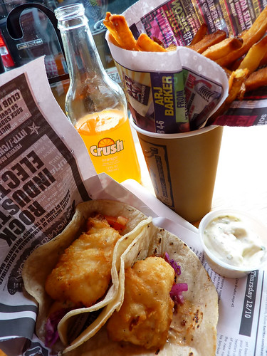 my fish tacos, David's pommes frites...no really.
