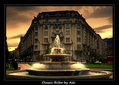 Classic Bilbo Hotel Carlton (Asi75er) Tags: city travel clouds photoshop canon eos hotel carlton bilbao elements nubes nublado bizkaia euskalherria hdr euskadi vizcaya bilbo paisvasco photoshopelements moyua plaa 400d canoneos400d