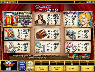 free Quest for Beer slot mini symbol