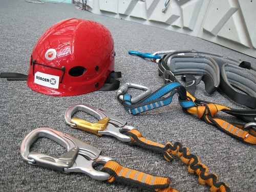 wall climbing safety gears