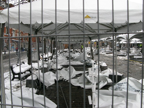 Afbraak Kerstmarkt Leuven