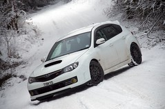 Winter Wonderland! (al broon) Tags: subaru gr 2008 impreza wrx sti 08 purewhite grb aspenwhite typeuk my08