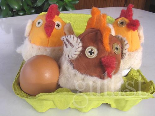 Handmade rooster, felt, fabric1