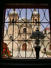 From the cafe window (ashabot) Tags: mexico cathedrals oaxaca cafes