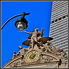 Do You Know That Grand Central Station NYC Was Bombed By Terrorists On 9/11... 1976!?? - IMRAN™ — 4,000+ Views! (ImranAnwar) Tags: 2010 architecture blue d300 framed imran imrananwar landmarks manhattan newyork newyorkcity nikon outdoors sky square statutes