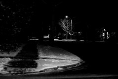 Neighborhood Night Scene (Maxwell GS) Tags: life street city winter urban blackandwhite art abandoned true wisconsin contrast digital real lost outside outdoors intense nikon bare empty dramatic gritty usual madison civilization casual rough everyday dslr society deserted stylized actual realistic lifelike d90
