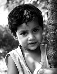 Tentative Smile (Yogendra174) Tags: portrait blackandwhite bw india sony strangers maharashtra joshi marathi yogendra sonydsct7
