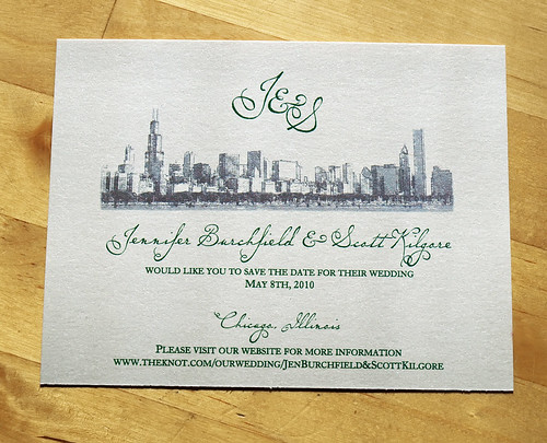 flickriver: photoset 'chicago skyline themed wedding stationery, Wedding invitations