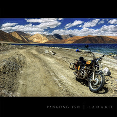 ~ What a ride...what a feeling!!! (CoSurvivor) Tags: india lake landscape roadtrip biking biker bullet himalaya himalayas ladakh enfield changthang pangong royalenfield pangongtso cosurvivor