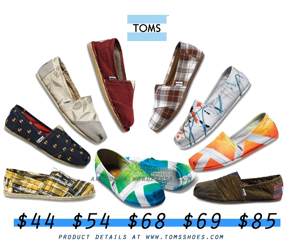 toms shoes theme