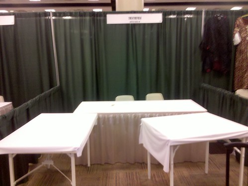 Our Booth in Dallas. Time to make it pretty!