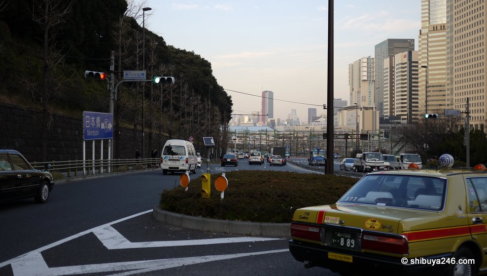Looking back towards Shinagawa down the Dai Ichi Keihin road.