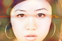 wide eyed wonder (mela.de.gypsie) Tags: life longexposure iris light selfportrait texture eyes bokeh surreal adventure dreams sandman layers awake morpheus theendless project365 365days honestsenseofwonder ihaventdonethismuchprocessinginsuchalongtime