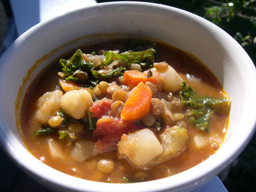 The Vegan Mouse: Lentil-Vegetable Soup with Red Wine and Miso