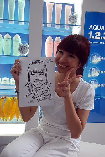 Caricature live sketching for Biotherm Roadshow Loreal - 15