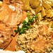 pork chops simmered in a creamy mushroom gravy