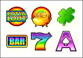 free Lots A Loot 5 Reel slot game symbols