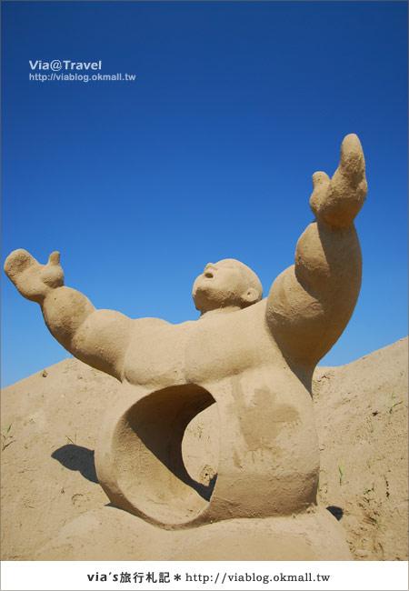 【2010春節旅遊】春節假期~南投市貓羅溪沙雕藝術節10