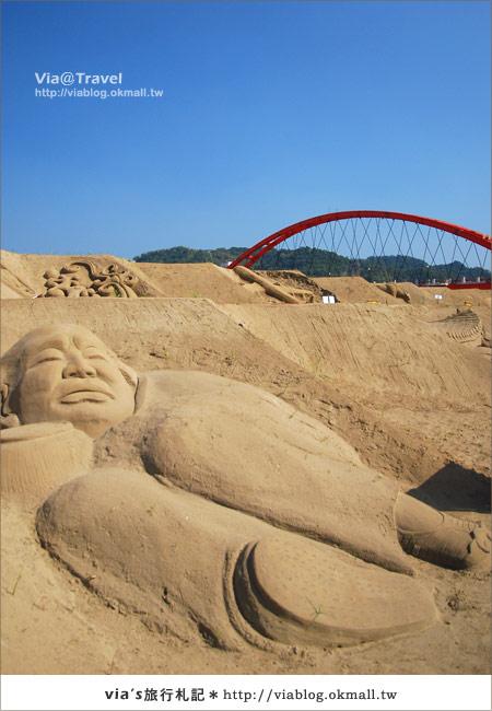 【2010春節旅遊】春節假期~南投市貓羅溪沙雕藝術節7