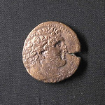 "<b>R2213 Obverse</b><br/> The obverse features a bust of Baal Melqart, a Phonecian god.   Donated by Dr. Richard Simon Hanson<a href=""http://farm3.static.flickr.com/2722/4351371465_4ed4b7107f_o.jpg"" title=""High res"">∝</a>"