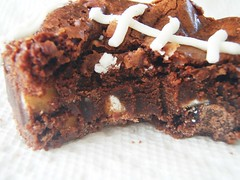 ina garten - outrageous brownies - football shaped (super bowl) - 37