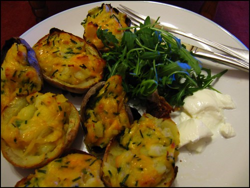 cheese and chive potato skins