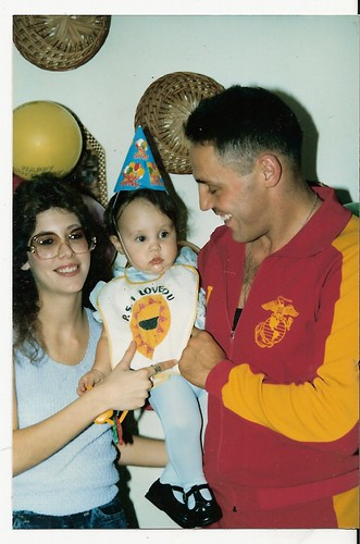 TOM AND BRENDA and little daugher, back in the 80s