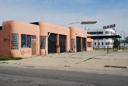Streamline Moderne Service Station