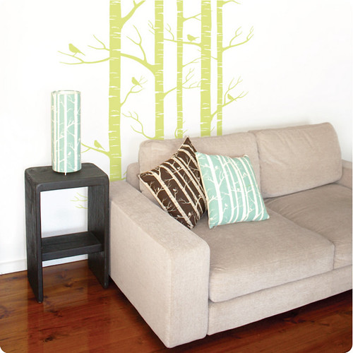 birch wall sticker/decal
