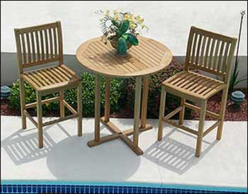 Teak 3 Piece Bar Set