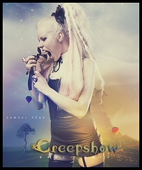 # Kerli Kiv - Creepshow (samuelpera) Tags: show love photoshop studio walking de dead is estonia air gothic balloon pop fantasy fantasia samuel photofiltre pra creepshow horrores kerli mywinners kiv