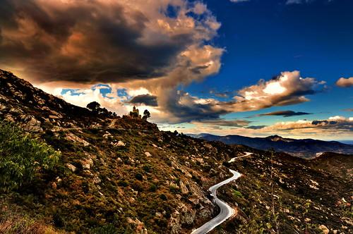 フリー画像| 人工風景| 道の風景| 山の風景| スペイン風景|       フリー素材|