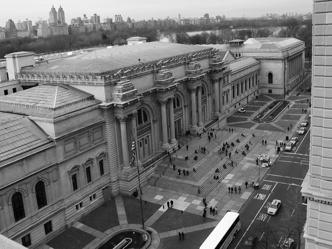 The Met from above