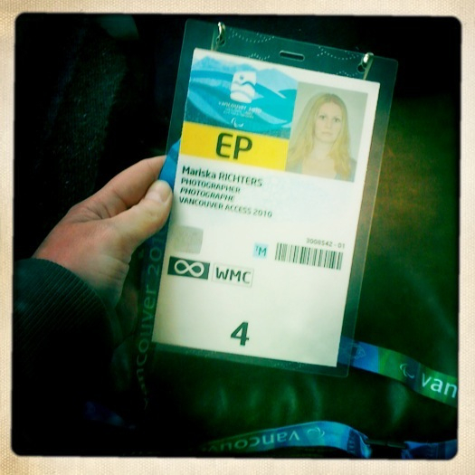 My Paralympics Media Accreditation from VANOC!