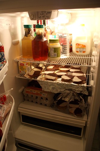 Black & White Cookies Filling Up the Fridge
