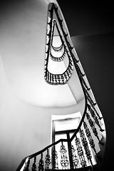Window (derScheuch) Tags: light shadow bw white black window wall stairs licht prague fenster sony rail pra