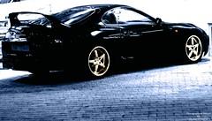 Supra (Khaled Al Sharah) Tags: black photography design al sony wheels twin turbo apex toyota kuwait 300 alpha dslr blitz khaled act hks stillen q8 supra greddy kash a300 sharah apexi wesco 2jz 300a q8kash alsharah