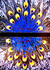 tavus (ebruzenesen - esengül) Tags: water traditionalart papermarbling portre ebru sanat sanatı marbeling ebrusanatı artonthewater marblingart artofebru artofmarbling ottomanartofmarbling decoratedpapers turkishpainting artturkish gelenekselsanat workshoppaperart ebruzenesen