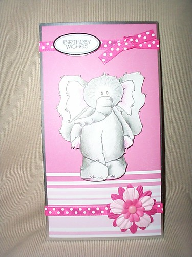 Ref: Card 6 Set 4 (AVAILABLE) / Birthday Card (for Female or Child) with Cute Elephant character / Price Ł1.25 /