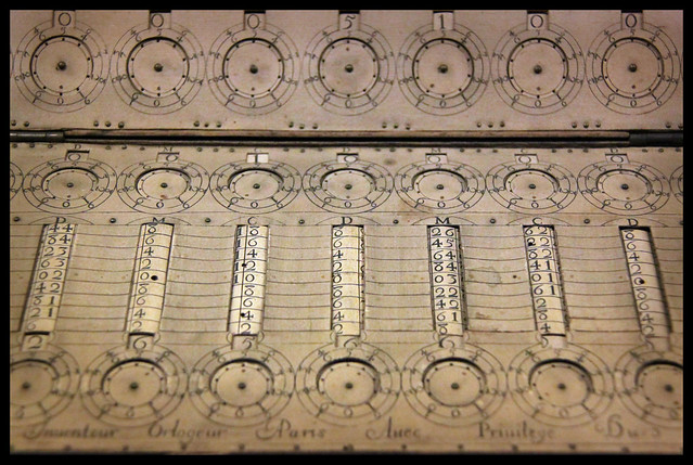 Detail - Arithmetical machine by Grillet, 1678