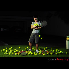 Day Forty Two (Erwin Co Photography) Tags: sb600 balls explore tennis 365 erwin racquet 7deadlysins sb800 d90 2470mmf28